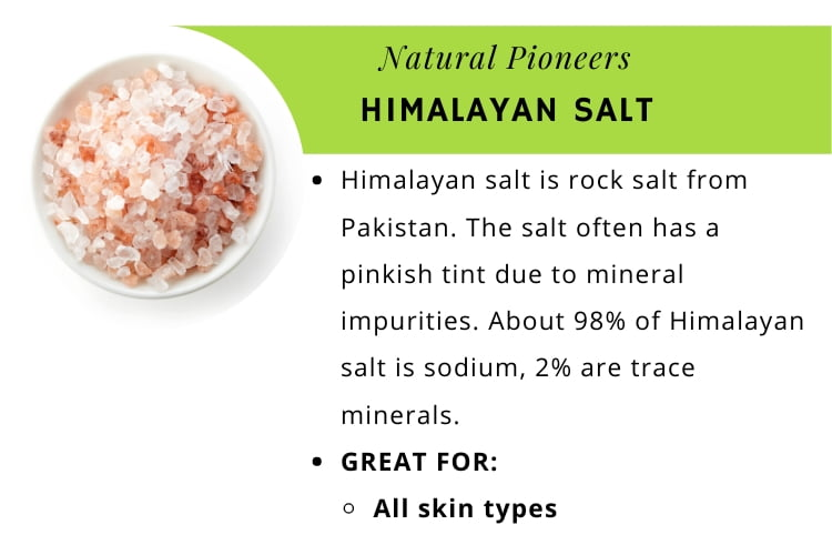 Natural Pioneers The quick and easy guide to bath salts Himalayan salt infographic