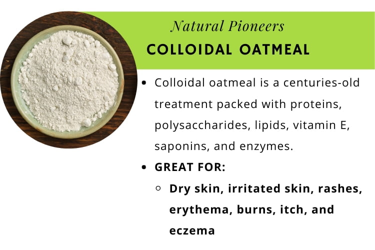 Natural Pioneers The quick and easy guide to bath salts colloidal oatmeal infographic