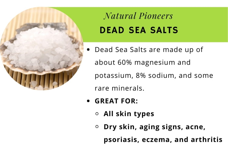 Natural Pioneers The quick and easy guide to bath salts dead sea salts infographic