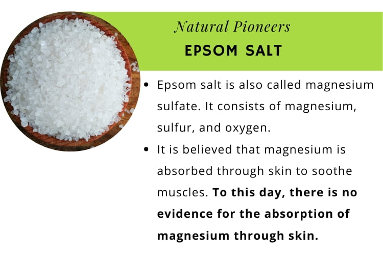 Natural Pioneers The quick and easy guide to bath salts epsom salts infographic