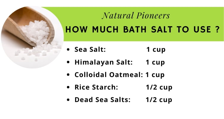 Natural Pioneers The quick and easy guide to bath salts how much bath salt should I use