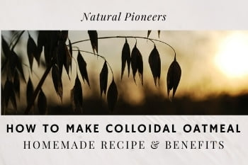 Thumbnail Natural Pioneers How To Make Colloidal Oatmeal Homemade Recipe & Benefits