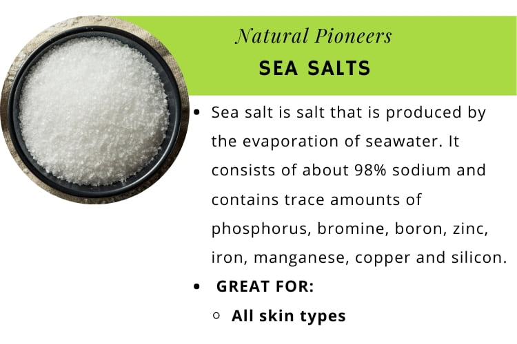 Natural Pioneers The quick and easy guide to bath salts sea salts infographic