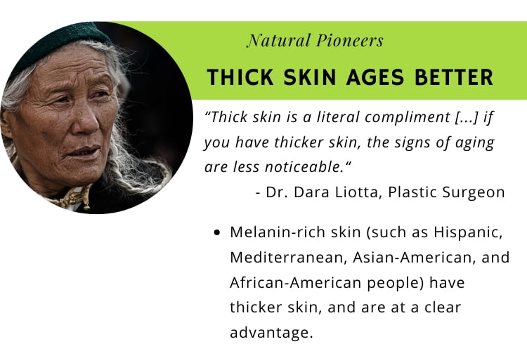 Natural Pioneers Is facial skin different from body skin thick skin ages better