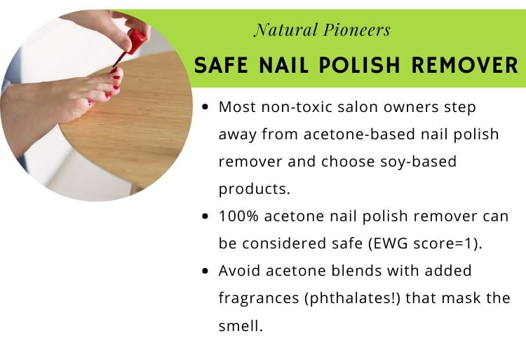 Natural Pioneers What Is A Non-Toxic Nail Salon safe nail polish remover soy-based acetone-free