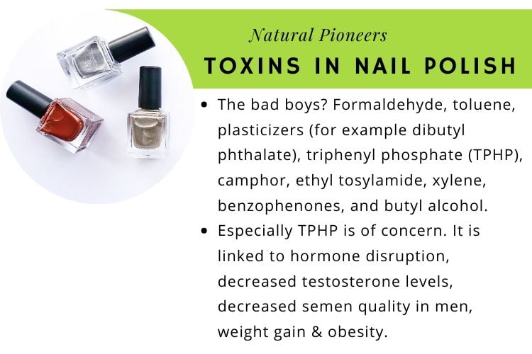 Natural Pioneers What Is Non-Toxic Nail Polish toxins in nail polish